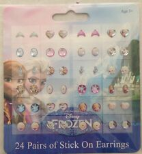 Disney Frozen Stick on Earrings 24 pairs NEW Elsa Anna Olaf