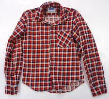 Vintage 80s Cranbrook Soft Red Flannel Checker Plaid Boys Western Shirt 16 L