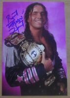 Bret 'Hitman' Hart Signed 6x4 Photo WWF WWE Royal Rumble Wrestler Autograph +COA