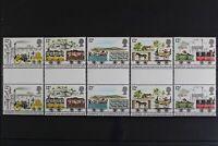 Großbritannien, MiNr. 830-839, senkr. Zwischenstegpaare, postfrisch / MNH - 6215