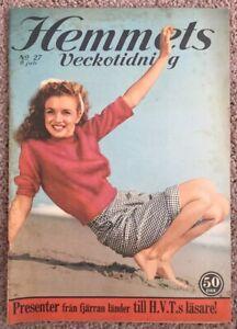 NORMA JEANE PINUP COVER HEMMETS MAGAZINE #27 1955 ANDRE De DIENES MARILYN MONROE