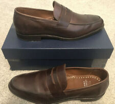 Brooks Brothers Brown Leather Penny Loafers Shoes Size 12D New