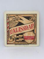 Vintage Talisman Lager Beer Coaster Bar Decoration Man Cave