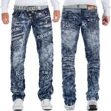 Kosmo Lupo Herren Jeans Verzeirung Nieten Zipper Streetwear Discostyle Modern