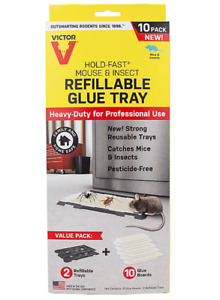 Victor® Hold-Fast® Refillable Mouse Glue Traps 2 Refillable Trays 10 Glue Boards