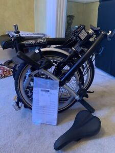 Brompton Folding Bike S6L - Black - BRAND NEW WITH BOX SHIPPING 🌎