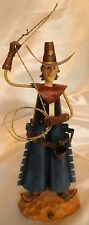 Vintage Hand Made Western Cowboy Metal Figurine internal Spring allows Mov ment