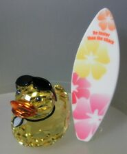 SWAROVSKI SILVER CRYSTAL DUCK-SUNNY STEVE SURFER mint in box  1096743