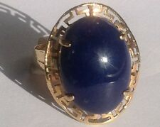 New 14k Solid Yellow Gold Y/G Lapis Ring, SZ-7, NWT