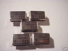 FOX 7.680000 MHz crystal oscillator  5 pieces