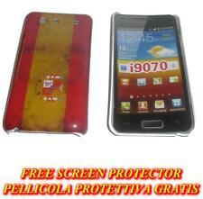 Pellicola+custodia BACK COVER rigida SPAGNA per Samsung I9070 Galaxy s Advance