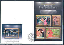 CENTRAL AFRICA 2012 HENRI TOULOUSE LAUTREC  SHEET FIRST DAY COVER