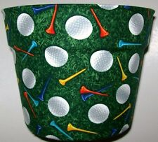 GOLF BALLS TEES THEMED PLANTER FLOWERPOT GIFT WRAP BASKET PARTY SUPPLY CONTAINER
