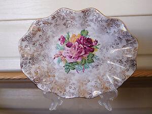"""Old Foley James Kent Ltd. """"Vintage Rose"""" Serving Dish 5308 England 1930s"""