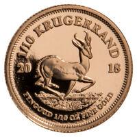 2018 South Africa 1/10 oz. Gold Krugerrand Proof Coin GEM Proof SKU52838