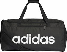 watch ddfd9 dcfee adidas Linear Core Duffel Training Bag Black White Gym Football Travel XS S  M