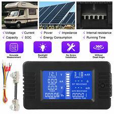 200V Battery Monitor Meter LCD Digital Display Solar System Automobile Voltmeter