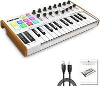 Worlde 25 Key USB Portable Tuna Mini MIDI Keyboard MIDI Controller  Knobs