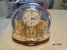 Seiko Melody Movement Mantel Clock Crystal Pendulum Rare Pop/Classic Music