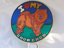"""Stained Glass Style """" Brown Chow-Chow"""" Dog Night Light For Every One-Unique!"""
