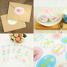 120x Handmade Paper Stickers Labels Seal Craft Gift Food Decal Party Gift Decor