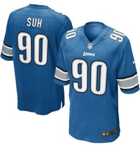 NEW 💯% Genuine Ndamukong Suh Detroit Lions Nike NFL Game Jersey Small - Blue