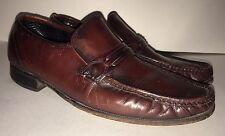 Florsheim Loafers Como Burgundy Black Cherry Mens Shoes Size 10 Vintage