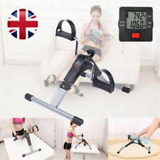 Mini Fold Pedal Exerciser Fitness Cycle Bike Arm Leg Resistance Workout LCD UK