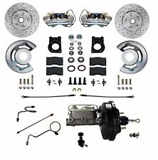 1971-73 Ford Mustang Cougar  Cross Drilled Disc Brake Conversion Kit Power