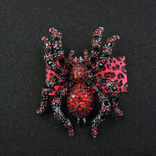 Enamel Rhinestone Charm Brooch Pin Gift Betsey Johnson Hot Red Cute Spider