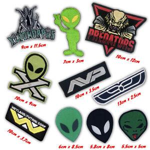 Alien Predators Xenomorphs variation logo Iron on Sew on Embroidered Patches