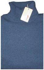 $1450 NEW BRIONI BLUE-GRAY 100% CASHMERE TURTLENECK SWEATER JUMPER XL