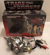 Transformers G1 Dinobot Sludge w Weapons Original Box Manual