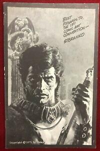 1971 NEW YORK COMIC ART CONVENTION Program Book Phil Seuling Steranko etc FINE-