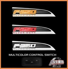 2011-2016 Ford F250 Super Duty LED Recon Front Fender Emblem Badge Pair Chrome