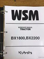 Kubota BX1800 BX2200 BX 1800 2200 tractor service & repair manual