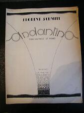 Partition Andatino pour Hautbois et piano Florent Schmitt