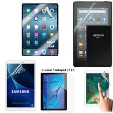 Clear Soft Film TPU Screen Protector For Amazon Apple iPad Galaxy Tab Huawei