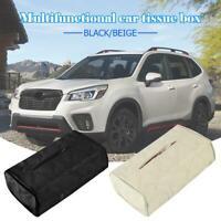 PU Leather Tissue Box Cover Home Table Car Napkin Case Holder Storage Organiser