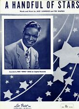 """Sheet Music """"A Handful of Stars"""" by Lawrence and Shapiro Johnny Mathis Song"""