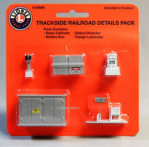 LIONEL TRACKSIDE RAILROAD DETAIL PACK O GAUGE accessories train side 6-83688 NEW