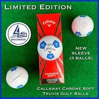 Callaway Chrome Soft TRUVIS Golf Balls - SOUTH MUSKOKA Canada  NEW 3-ball Sleeve