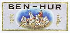 Ben-Hur, original outer cigar box labe, horses