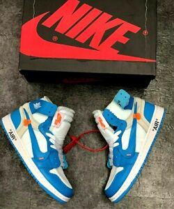 Nike Air Jordan 1 x Off White - University Blue  -Read the description -