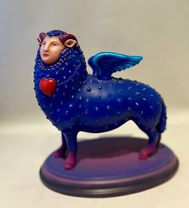 """RARE FIND Bustamante,Sergio """"Sheep with Wings"""" S/N Sculpture  65/100"""