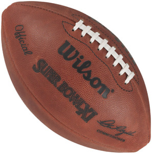 SUPER BOWL XI 11 Authentic Wilson NFL Game Football - OAKLAND RAIDERS