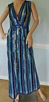 New $3195 Missoni Orange Label Metallic Stripe Long Maxi Gown Dress US 2 4 IT 40
