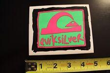 Quiksilver 80's Neon Wave Surf Skate Snow Quicksliver Vintage Surfing Sticker