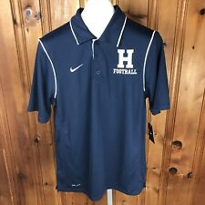 "Nwt Nike Fit Dri Men Polo Shirt Small Navy ""H� Football Short Sleeve (H)"