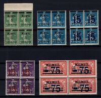 PP137611/ FRENCH MEMEL – MI # 18b - 20b - 47 / 48 - 49 MINT MNH – CV 125 $